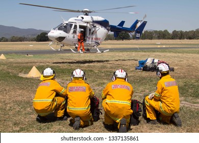 Tumut, New South Wales / Australia - Febuary 9th 2019:personnel are specialist members who are particularly effective for work in rugged, isolated areas in Fire Fighting.