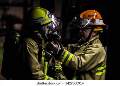 Tumut, New South Wales / Australia - January 18 2014: 24hrs Fire Fighting