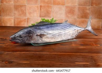 Tuna burns on the table