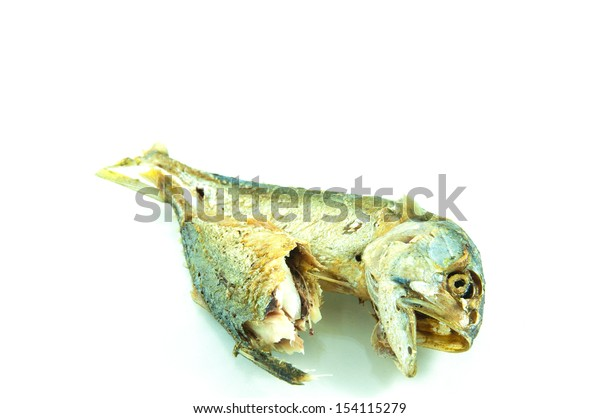 Tuna fried on white background