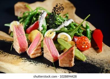 tuna with salad