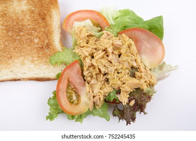 Tuna Sandwich isolated on white.
