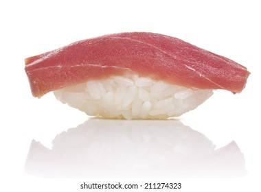 Tuna sushi nigiri isiolated on white background