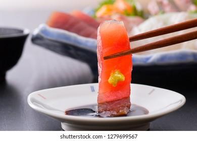 Tuna's Japanese sashimi