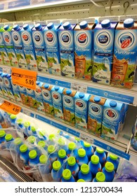 Tunas Manja Supermarket, Malaysia - October, 2018: Dutch Lady dairies products sold at the supermarket.