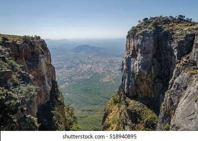 Tundavala in Angola where the plateau drops 1000m straight down into the lowlands