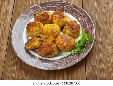 Tunde ke kabab as Buffalo meat galouti kebab, Awadhi cuisine.