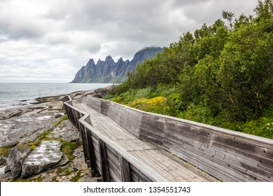 Tungeneset viewpoint near Ersfjord on Senja island in Norway