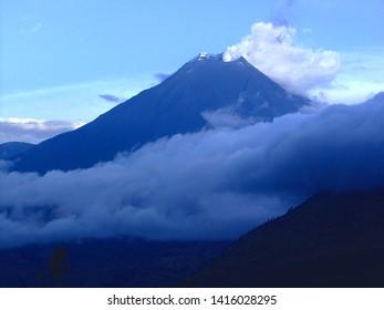 Tungurahua Volcano, The Andes Mountains, Province of Tungurahua, Ecuador