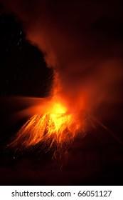 Tungurahua Volcano Eruption 28 11 2010 Ecuador South America 2Am Local Time