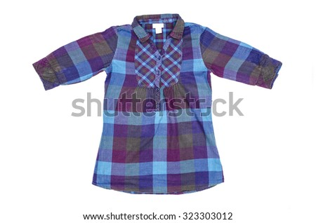 b8f9bfb0ff0 Tunic Checkered Isolated On White Stock Photo (Edit Now) 323303012 ...