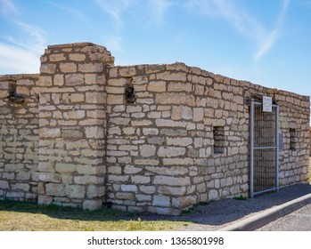 Tunis Creek Stagecoach Stop, Texas / USA - 4  April 2019: Tunis Creek Stagecoach Stop, now a rest stop along I-10 in West Texas.