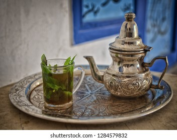 Tunisia, mint tea, oriental drinks.
