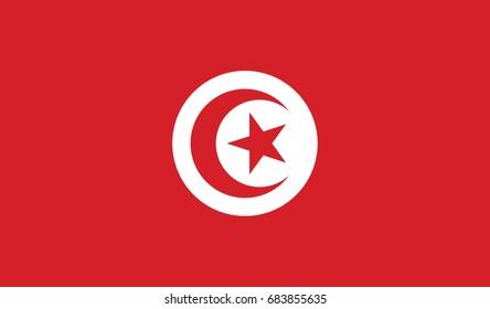 Tunisia national flag background