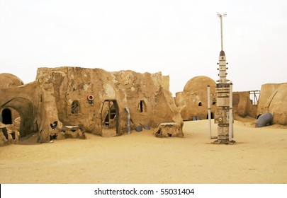 "Tunisia, Sahara -  May 2005, ""Set for Star Wars: Episode III - Revenge of the Sith"" shot in the Sahara desert, Tunisia"