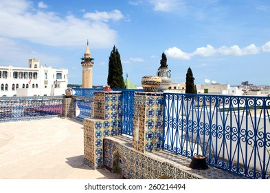 Tunisia, Tunis, view of traditional architectures of the city from a Medina terrace