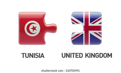 Tunisia United Kingdom High Resolution Puzzle Concept