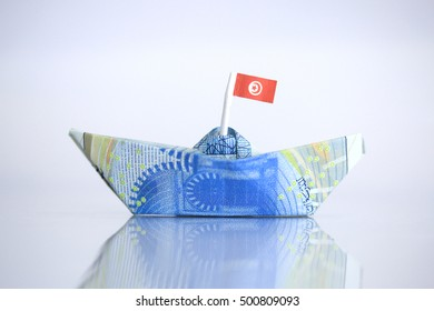 Tunisian DINAR is the national currency of Tunisia; money; Tunisia coin