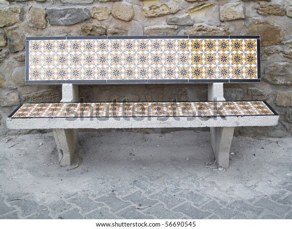 Phenomenal Tunisian Mosaic Tile Bench Parks Outdoor Objects Stock Image Uwap Interior Chair Design Uwaporg
