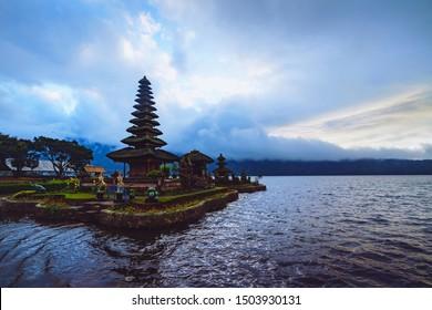 Tunjung Beji Ulun Danu Beratan Temple, Bali Indonesia