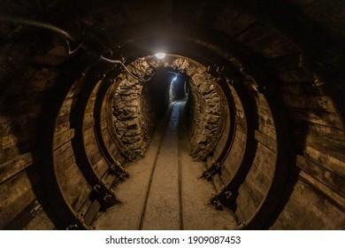 Tunnel of  an abandoned mercury mine in Idrija, Slovenia.