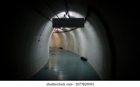 Tunnel in an abandoned miltary bunker.