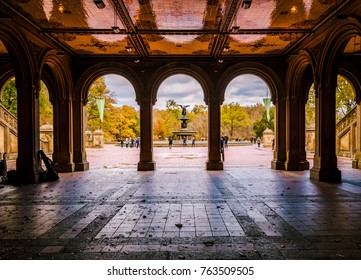 Tunnel to Bethesda Terrace and Fountain overlook.