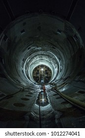 Tunnel Construction - Under Chicago - big tunnel project -  drainage and overflow