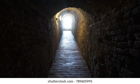 The tunnel of a fortress