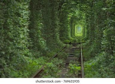 tunnel of love travel to ukraine railway trip to the Rivne region