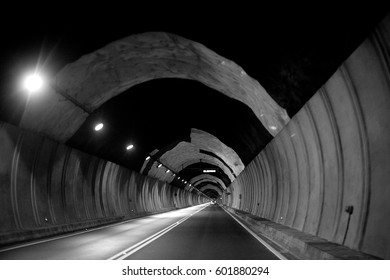 tunnel at night in Majorca