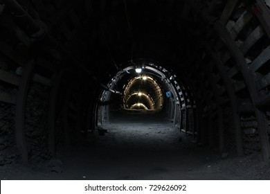 Tunnel in old coal mine