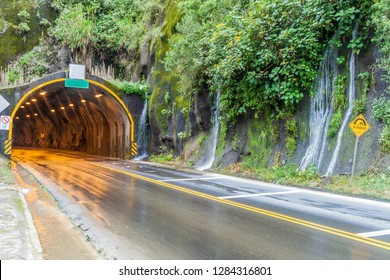 Tunnel on the road Banos - Puyo, Ecuador