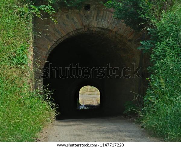 Tunnel at Petrovaradin fortress in Novi Sad, Serbia