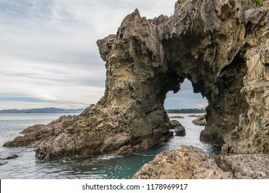 tunnel rock at Whites bay near blenheim , New Zealand