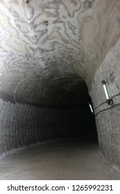 Tunnel in salt mine (Soledar, Donbass, Ukraine)