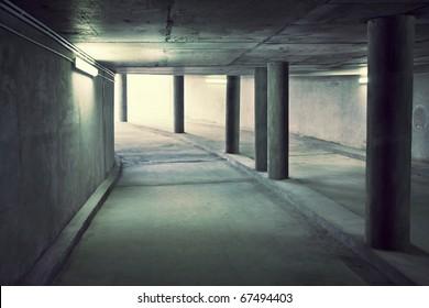 Tunnel of underground parking