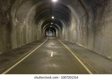 In the tunnel - underground way