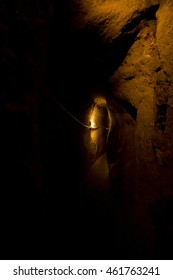 A tunnel wide only 40 centimeters at 30 meters under Naples.