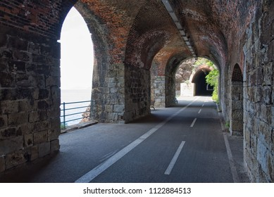 Tunnels between Bonassola and Framura - Liguria - Italy