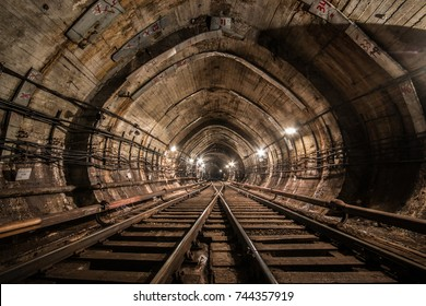 Tunnels of the Kiev subway service line