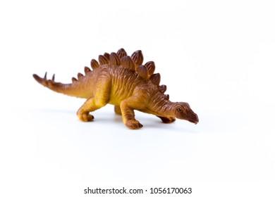 Tuojiangosaurus funny mini macro dinosaur isolated in white background