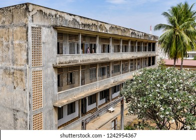 Tuol Sleng Genocide Museum in the capital city of Phnom Penh, Cambodia