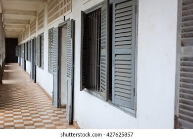 TUOL SLENG  (S21 PRISON) ,PHNOM PENH, CAMBODIA MAY 6, 2016  Tuol Sleng Museum (S21 Prison), Phnom Penh, Cambodia