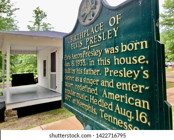 TUPELO, MISSISSIPPI, USA - JUNE 5, 2019: Birthplace of Elvis Presley in the Mississippi town of Tupelo.