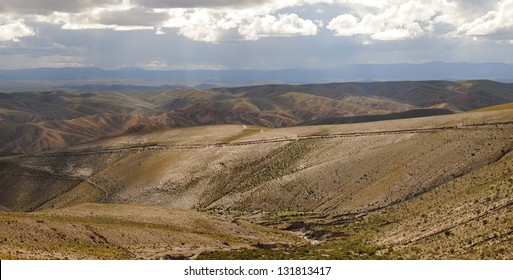 Tupiza landscape are full of colored rock, hills, mountains and canyon. Bolivia.