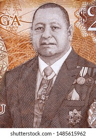 Tupou VI a portrait from Tongan money