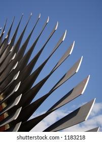 Turbine blades of a powerplant