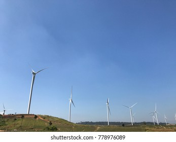 Turbine farm electric wind