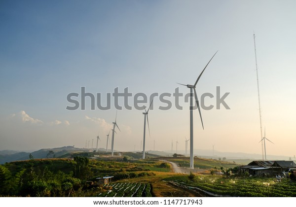 Turbine field in Phetchabun Province